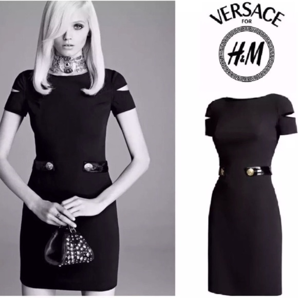 3c3064167d VERSACE FOR H M Black Short Dress 100% Silk